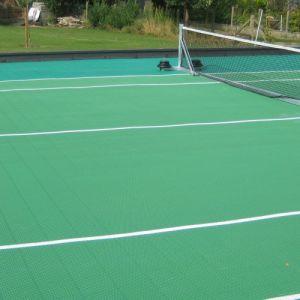 Rooftop Tennis Court Leuven – Outdoor Hard Court Solution