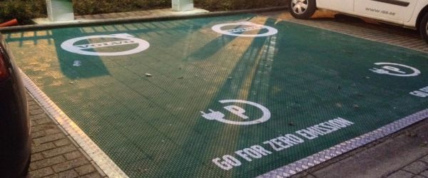 Image of  Marketing Floor Volvo – Outdoor Hardcourt Solution Plus Branding