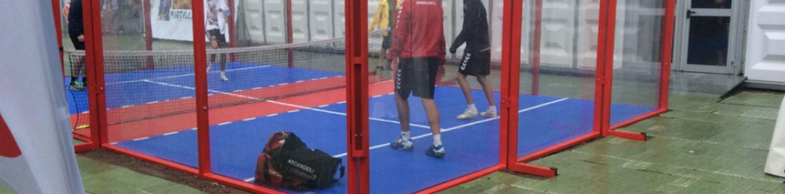 Youth Soccer/handball Tournament Göteborg – Padbol Cage + Outdoor Hard Court Sports Floor